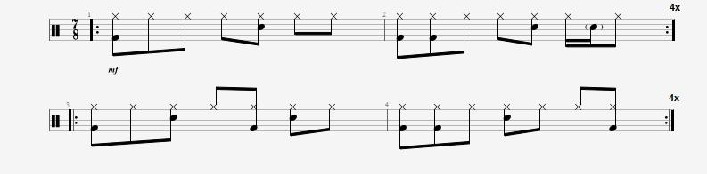 Crafting basic 7/8 beats