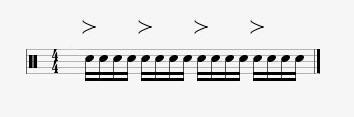 accented semiquavers