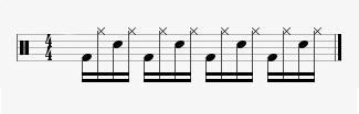 beginner rock drumming beats example