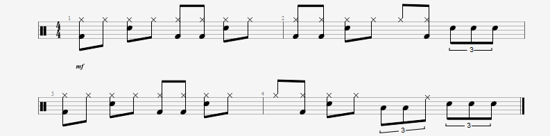 Incorporating triplets in simple beats