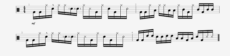 Using the previous linear pattern to compose drumfills