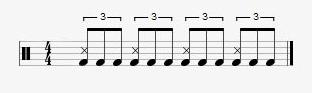 blue shuffle rhythm