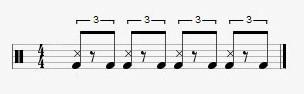 drums shuffle rhythm