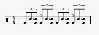 intermediate blues drumming